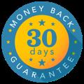 Badge of money back guarantee